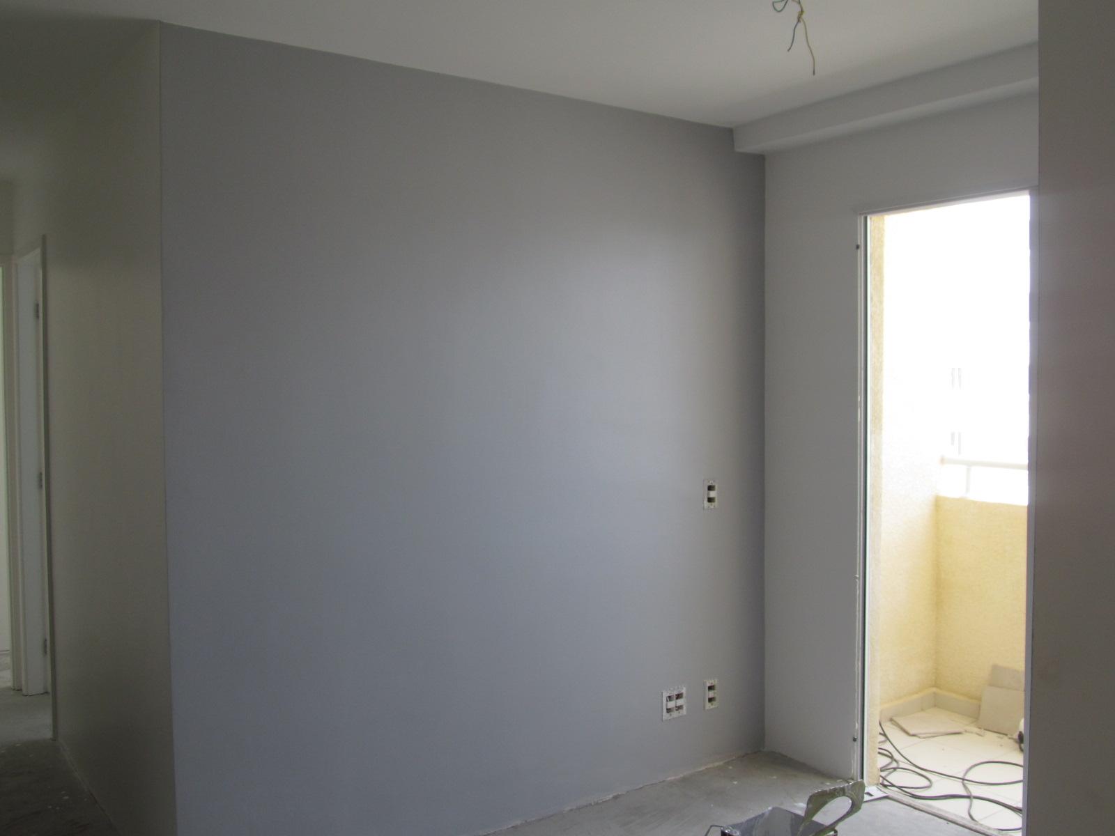 Sala Pintada Branco e Cinza personalizado  a saga do apartamento