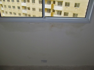 infiltração janela de alumínio
