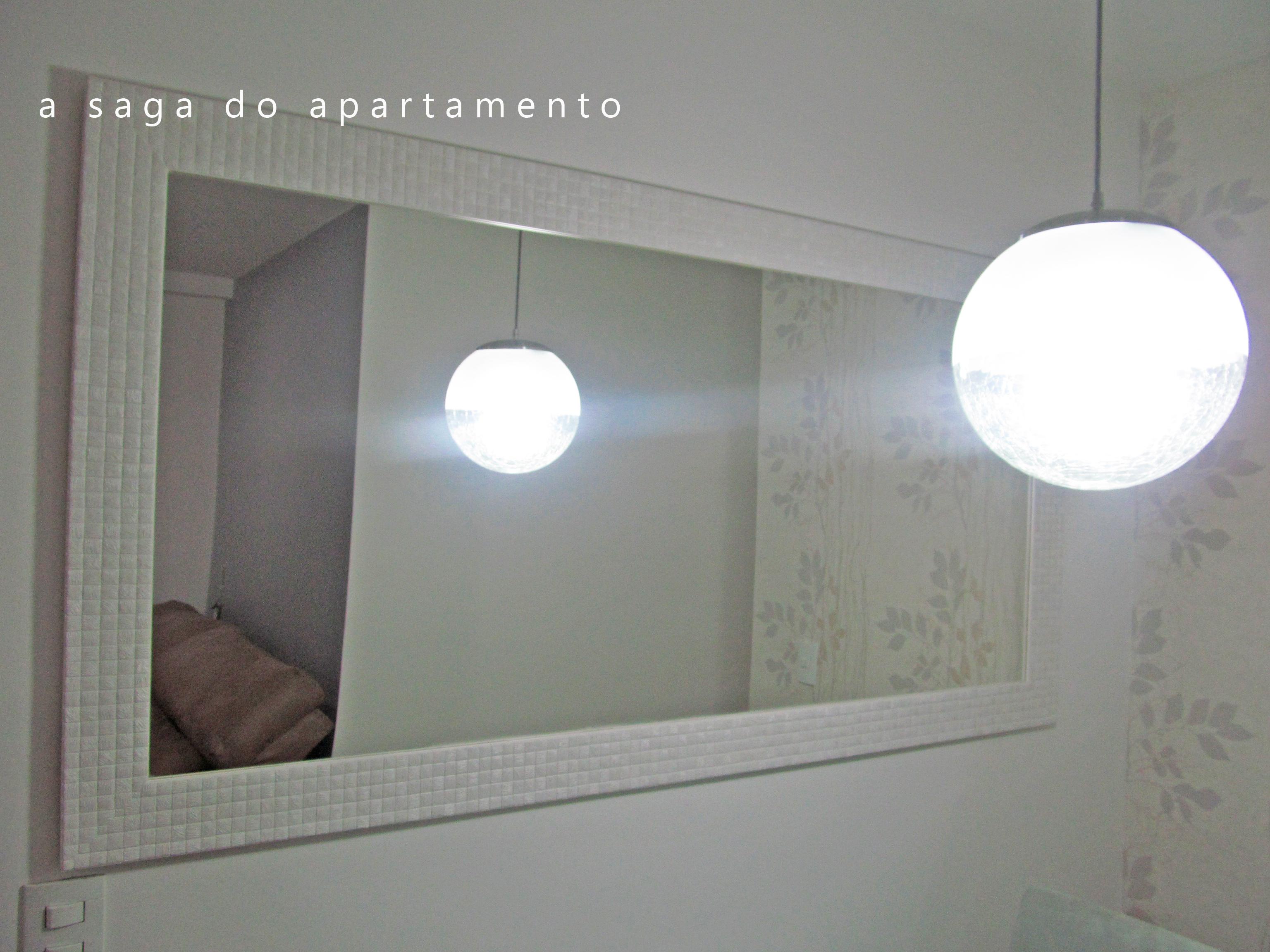 Espelho Para Sala De Jantar Com Moldura Branca