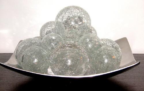 Bolas craqueladas decorativas a saga do apartamento for Bolas de cristal decorativas