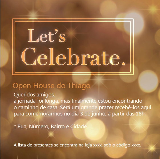 Convite open house a saga do apartamento for Retirement invitation template free