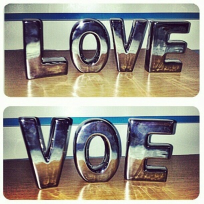 letras decorativas in love tok & stok acabamento metalizado