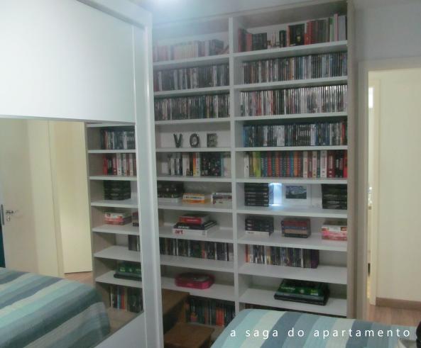 estante grande livros DVD dvdteca
