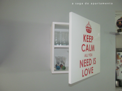 adesivo keep calm all you need is love