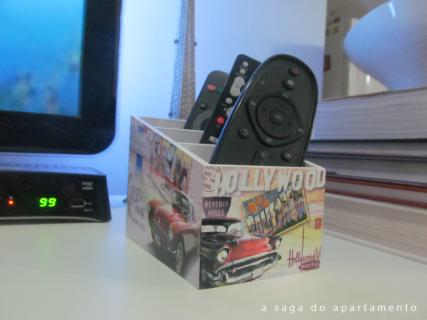 porta controle remoto vintage hollywood