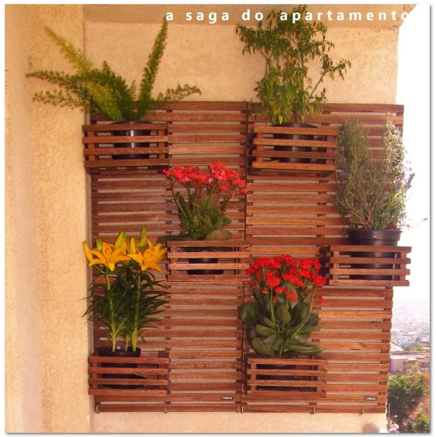 mini jardim de parede: de Madeira na Varanda Fonte de mesa decorativa Adega Vertical