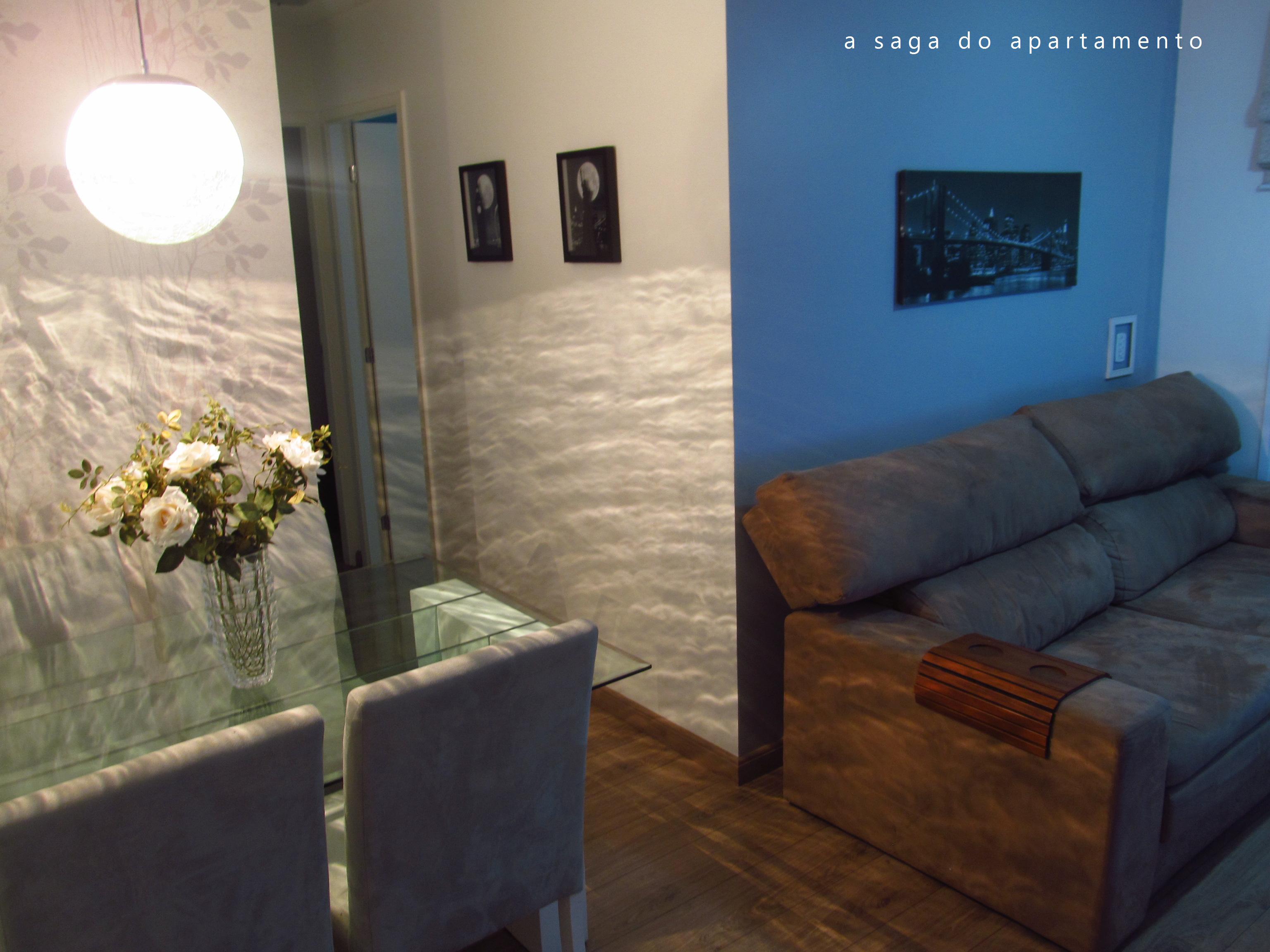 Separando Sala De Estar E Jantar A Saga Do Apartamento -> Sala Branca Com Parede Colorida