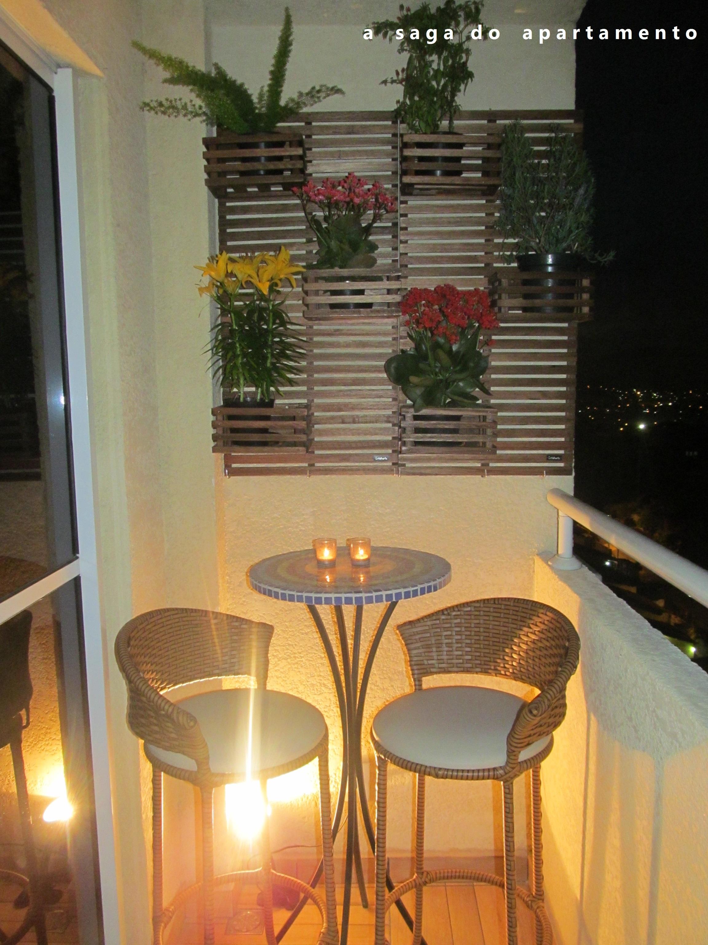 ideias varanda pequena a saga do apartamento -> Decoração Para Varanda De Apartamento Simples
