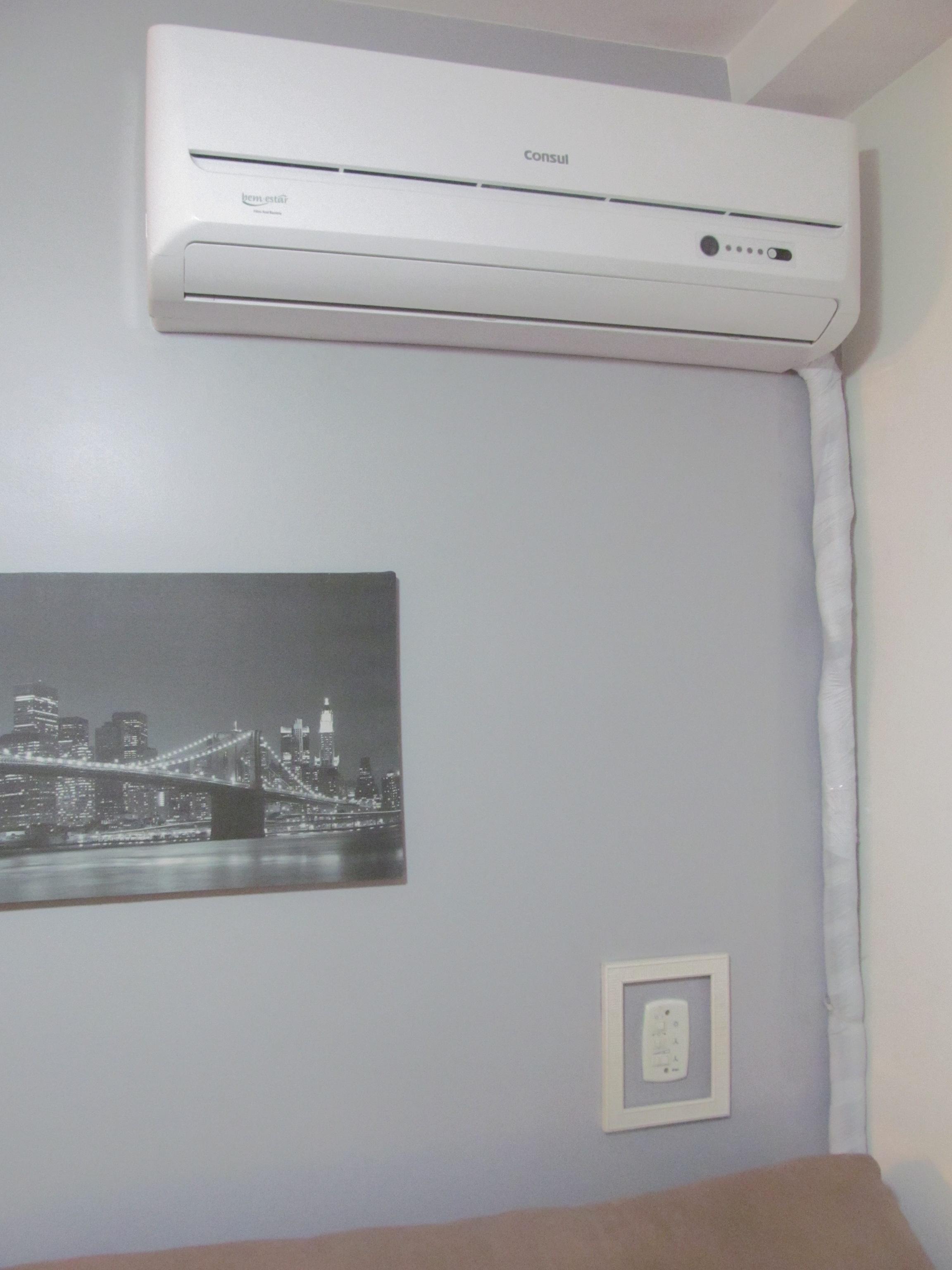 #675E54  ar condicionado na sala (sem quebra quebra!) a saga do apartamento 4212 Instalar Ar Condicionado Janela Apartamento