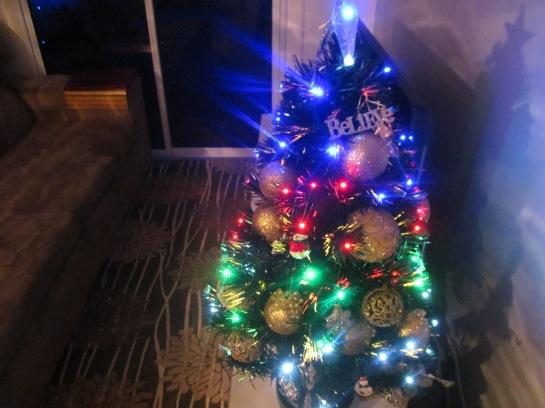 árvore iluminada