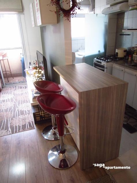 bancada cozinha americana madeira linheiro grigio