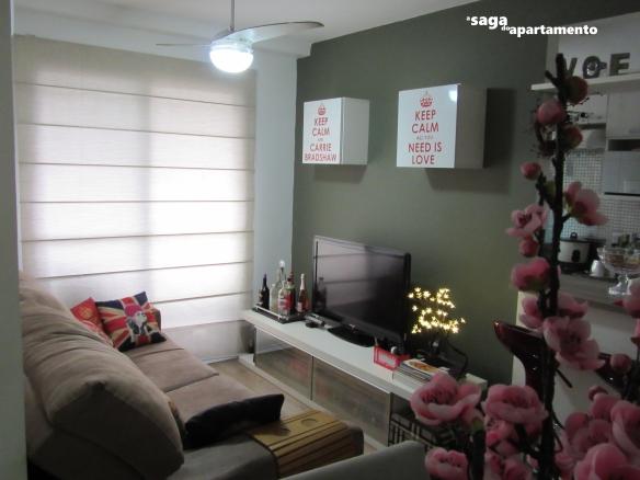 parede sala de estar verde cinza Coral Pinheiro Inglês