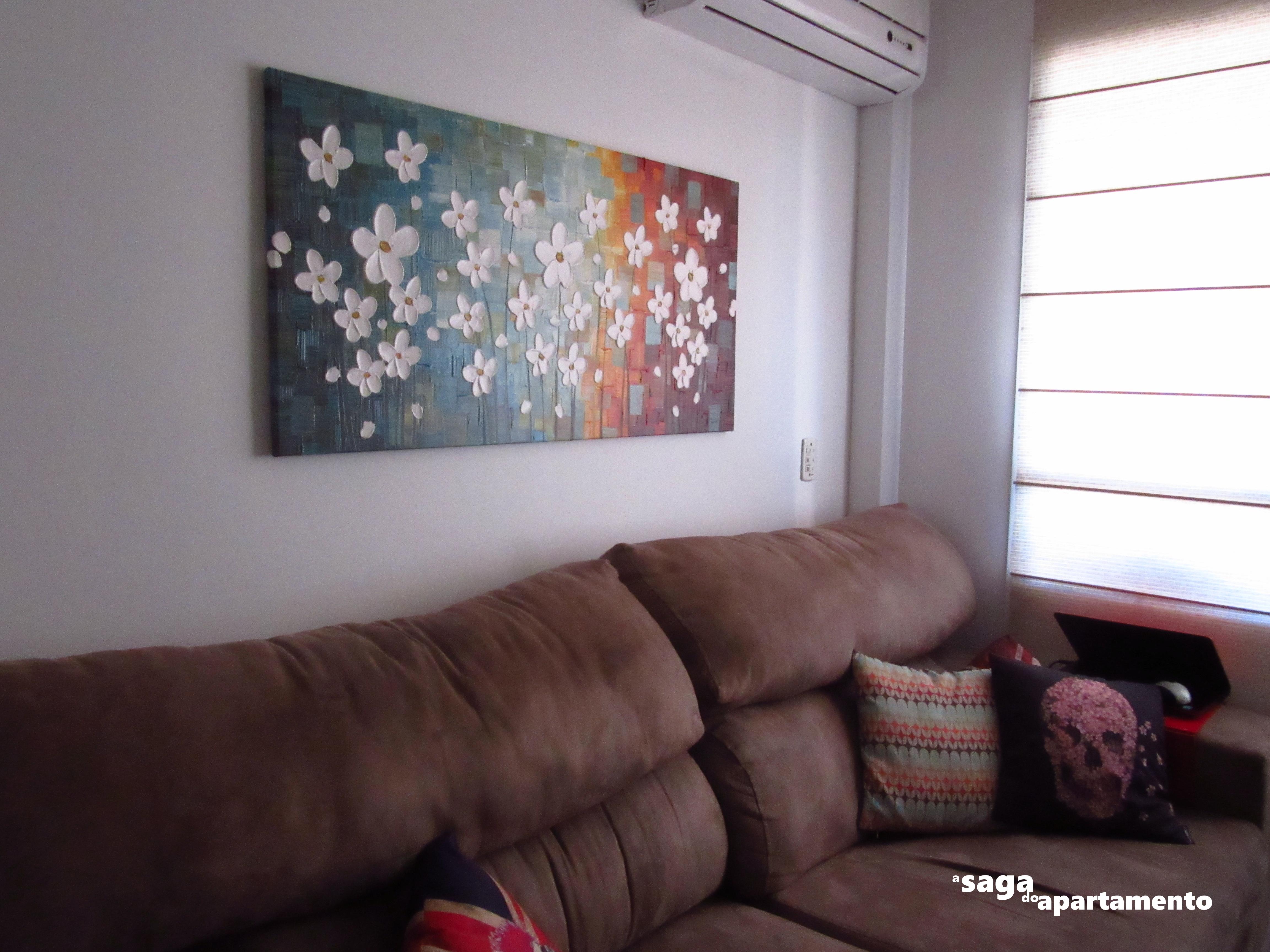 Quadro Com Flores A Saga Do Apartamento -> Pinturas De Sala Pequena