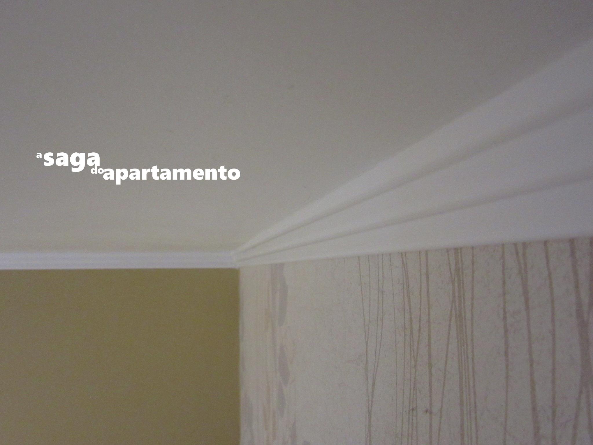 Redecorando a sala – parte 2: Instalação das Molduras de Teto (ou  #73694D 2048x1536 Banheiro Com Moldura De Gesso