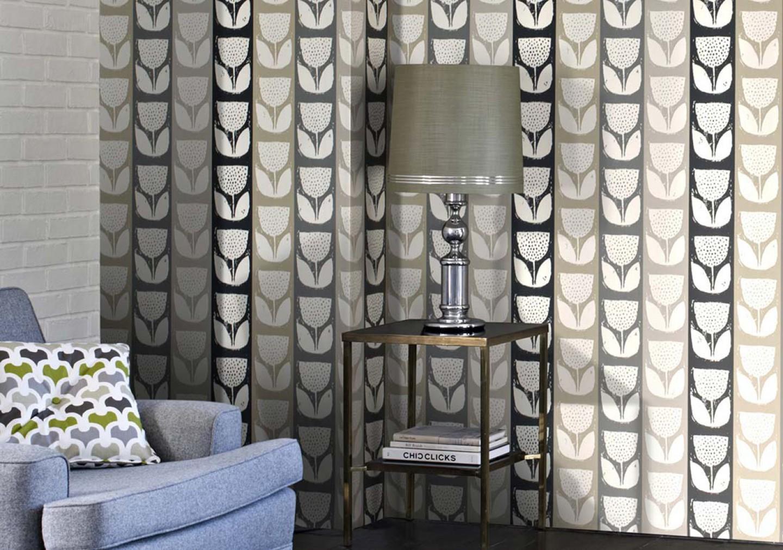 Inspira O Papel De Parede A Saga Do Apartamento -> Papel De Parede Sala Floral