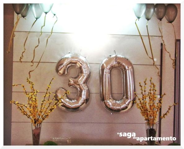 painel 30 anos números metalizados