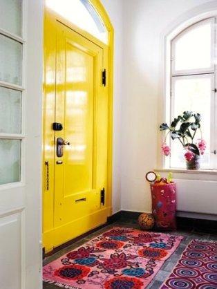 porta colorida caixonete colorido amarelo