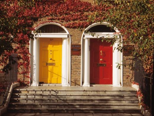 portas coloridas decoracao