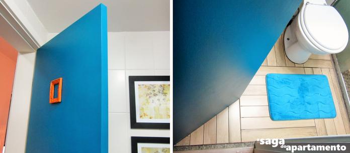 porta colorida banheiro azul coral