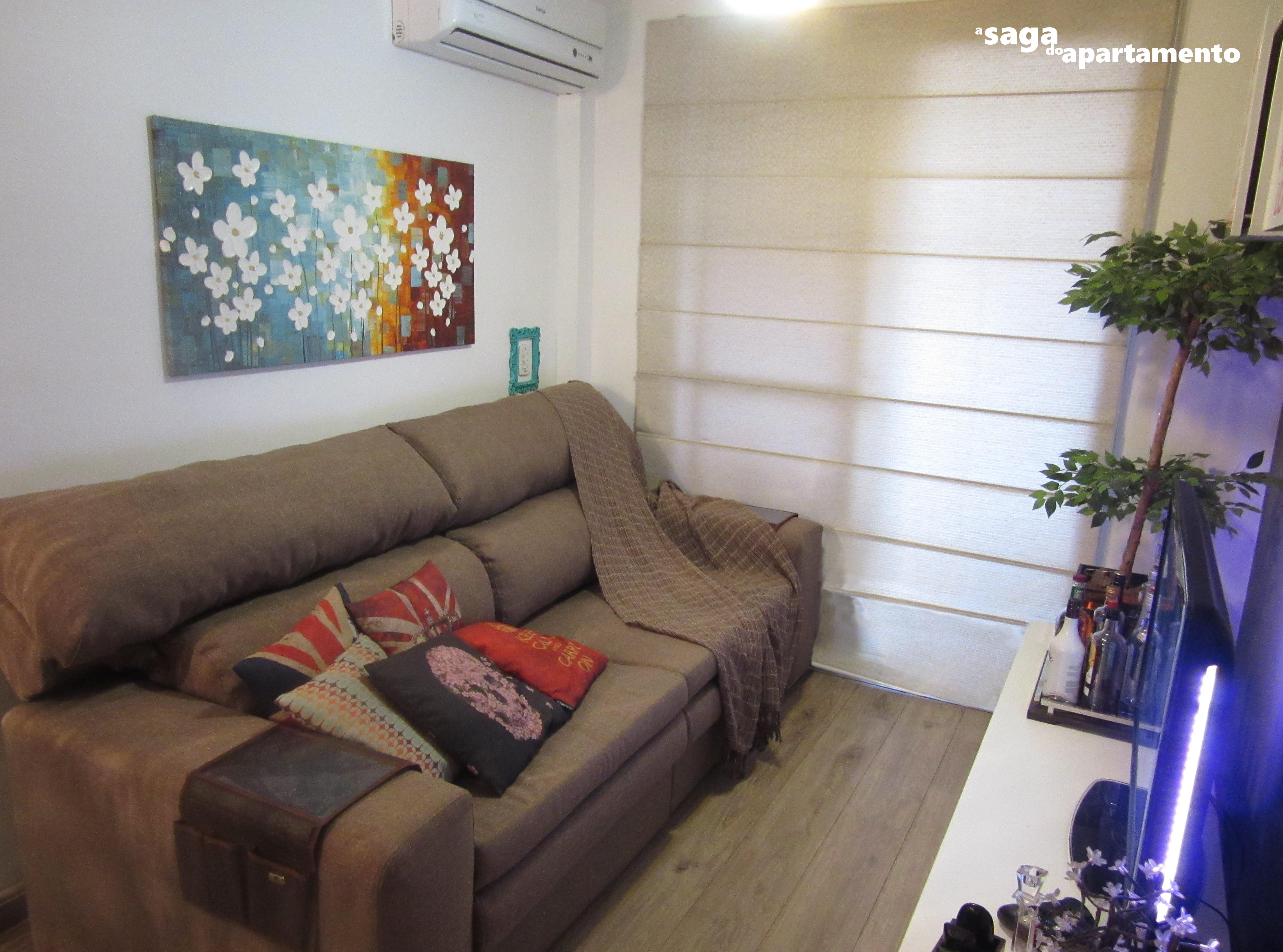 Linho Sof A Saga Do Apartamento -> Sala Cinza Com Sofa Marrom
